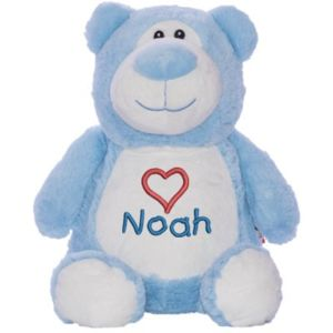 Cubbyford Teddy Bear - Light Blue - Personalize with any name or text Thumbnail