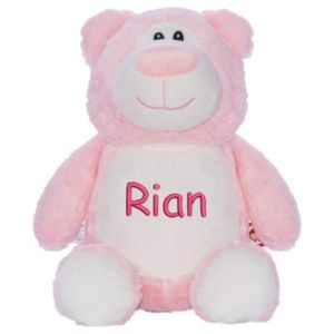 Cubbyford Teddy Bear - Pink - Personalize with any name or text Thumbnail